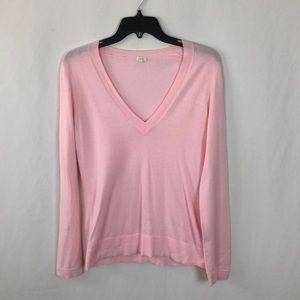 J Crew Factory v neck pink sweater
